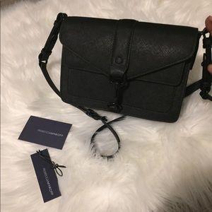 NWT Rebecca Minkoff Matte Black Leather Crossbody